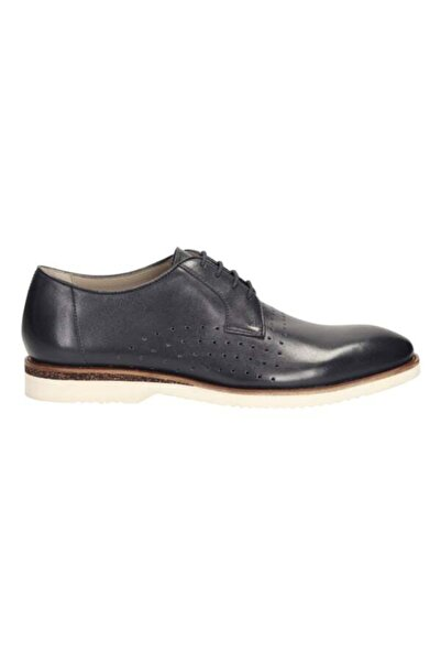 CLARKS Mens Tulik Edge Navy Leather