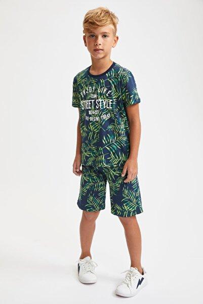 DeFacto Erkek Çocuk Baskıdesenli Tişört Ve Şort Takım
