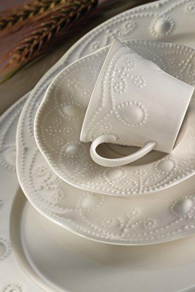 Kütahya Porselen Fulya Krem 24 Parça Yemek Seti