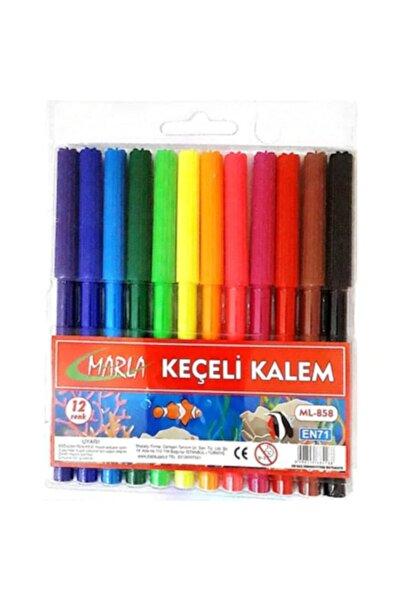 Marla Keçeli Kalem 12 Li Ml-858