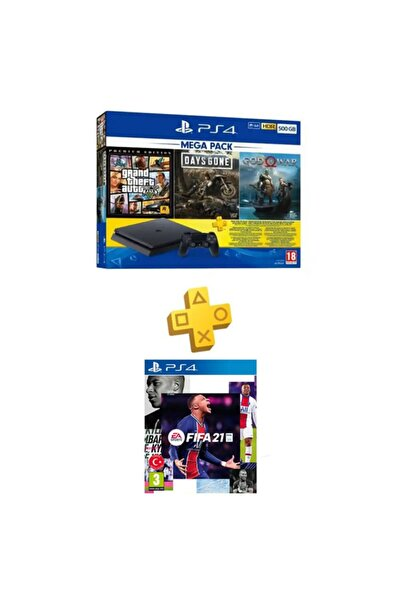 Sony Ps4 Slim 500 Gb + Gta V + Days Gone + God Of War + Psn + Ps4 Fifa 21 (eurasia Garantili)