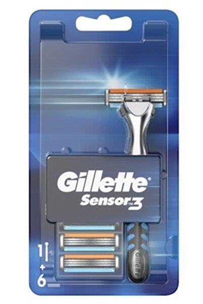 Gillette Sensor 3 Tıraş Makinesi Ve 6 Yedek Tıraş Bıçağı