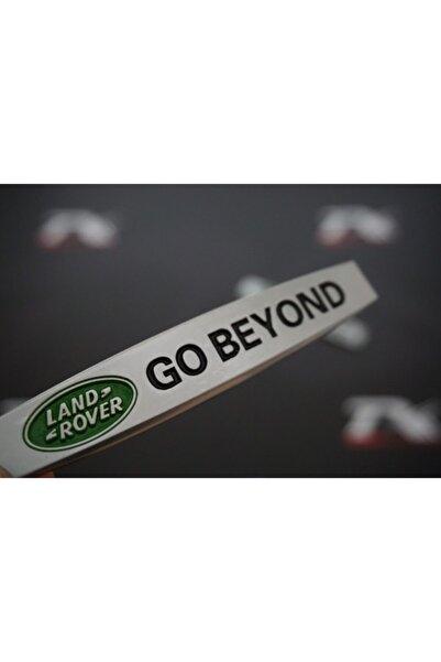 Land Rover Go Beyond Logo Yan Çamurluk 3m 3d Krom Metal Logo Amblem
