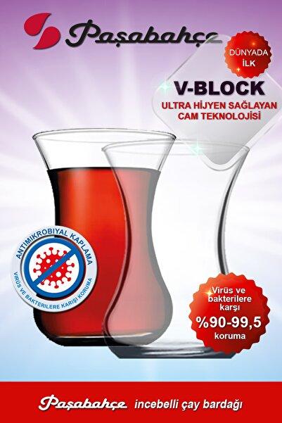 Paşabahçe V-block Antimikrobiyal 6'lı Incebelli Çay Bardağı 42381