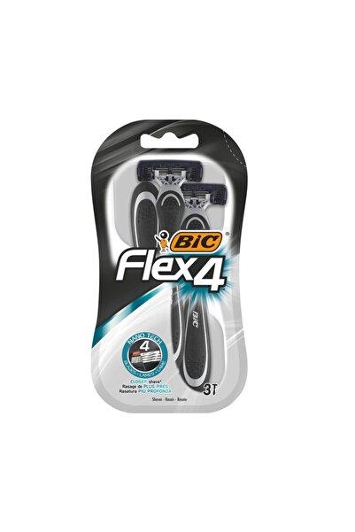 Bic Flex 4 Tıraş Bıçağı 3lü Blister 4 Bıçak