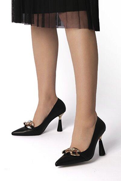 Marjin Viyolin Kadın Stiletto Topuklu Ayakkabısiyah