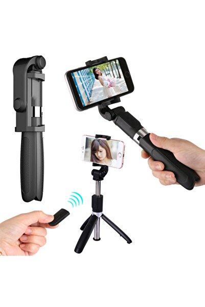 BK DESING Tüm Telefonlara Uyumlu Uzaktan Kumandalı 2'si 1 Arada Tasarım Tripod Selfie Çubuğu