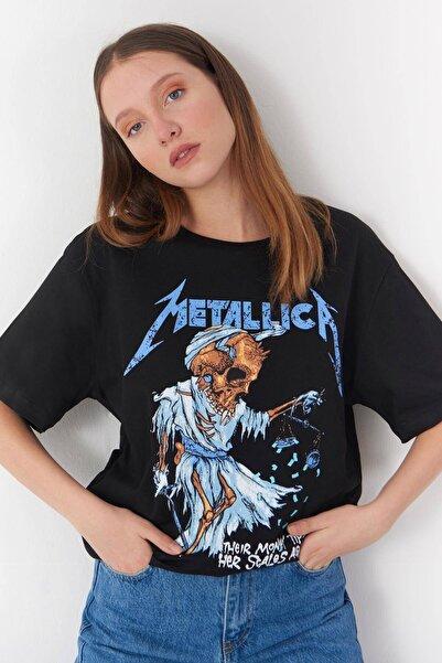 Addax Baskılı T-shirt P0645 - T3