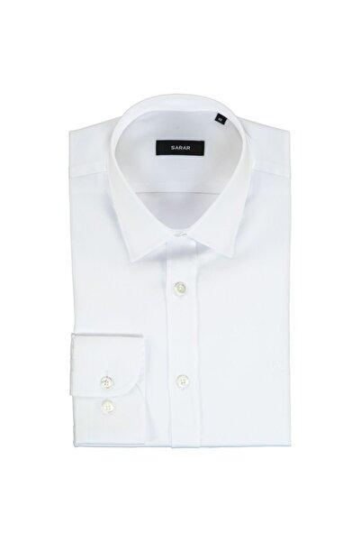 Sarar Erkek Beyaz Elvio Slimeo Gömlek