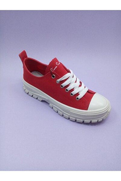 Pierre Cardin Kadın Kırmızı Keten Ayakkabı