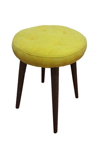 Canisa Concept Altın Renk Çok Rahat Oturma Alanlı Puf