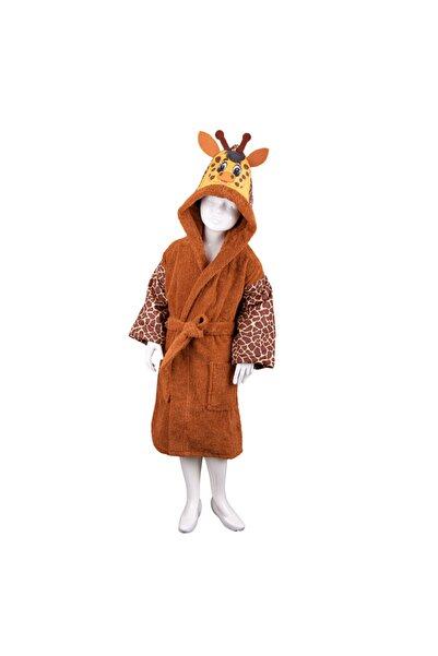 Minteks Safari Çocuk Bornozu - Zürafa