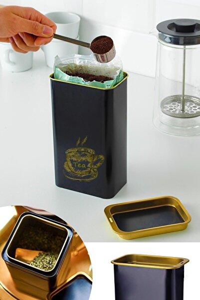 Helen's Home Metal Çay Şeker Kahve Saklama Kabı Çok Amaçlı Düzenleyici Teneke Çay Kutusu