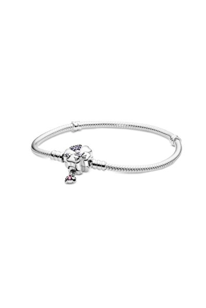 My Story Uyumlu Çiçek Kalp Uğurböceği Gümüş Charm Bileklik