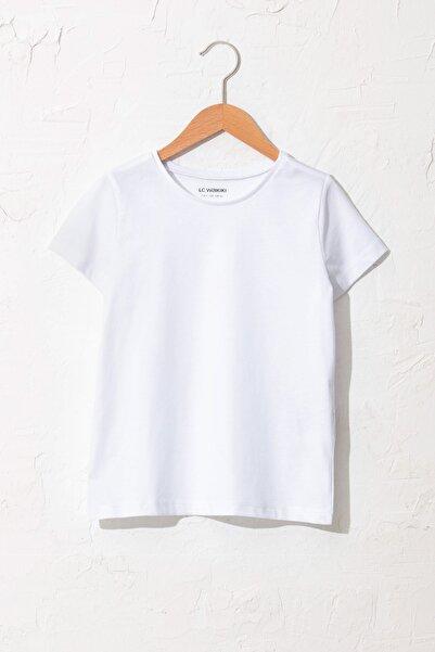 LC Waikiki Kız Çocuk Optik Beyaz R9K T-Shirt