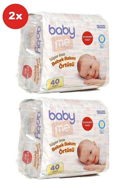 Baby&Me Süper Ince Alt Değiştirme Örtüsü 60x90 Cm 40 Adet X 2 Adet