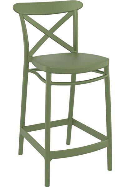 Siesta Cross Bar Sandalyesi 65cm Zeytin Yeşili