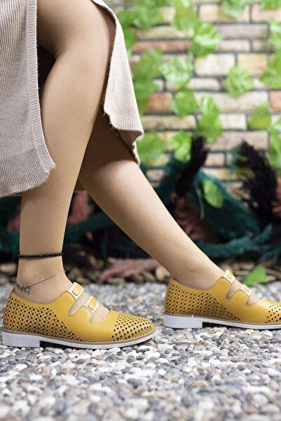 Riccon Kadın Hardal Günlük Ayakkabı