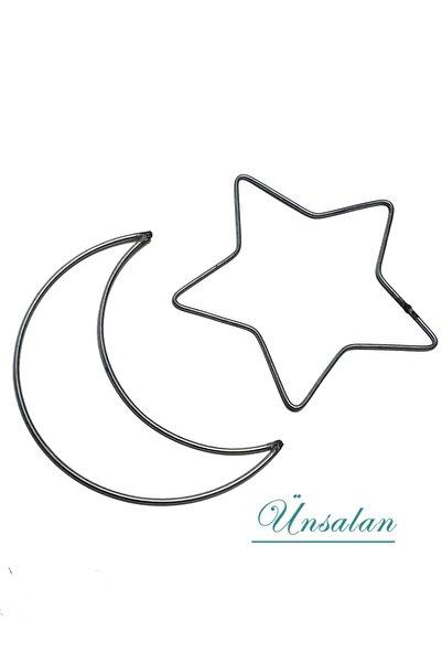ÜNSALAN HOBİ Metal Ay Ve Yıldız Makrome Kasnak Seti