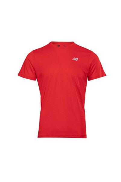 New Balance Logo Mens Tee Kırmızı Erkek Tişört - Nbtm008-chr