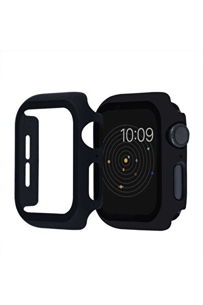 KVK PRİVACY Apple Watch Uyumlu Siyah Silikon Kılıf 42mm Tam Koruma  1 2 3 4 5 6 Se