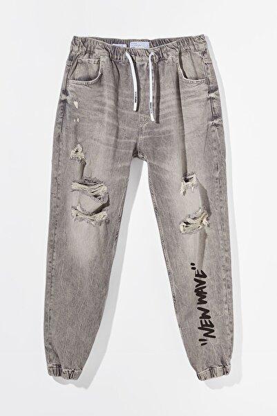 Bershka Erkek Gri Pantolon