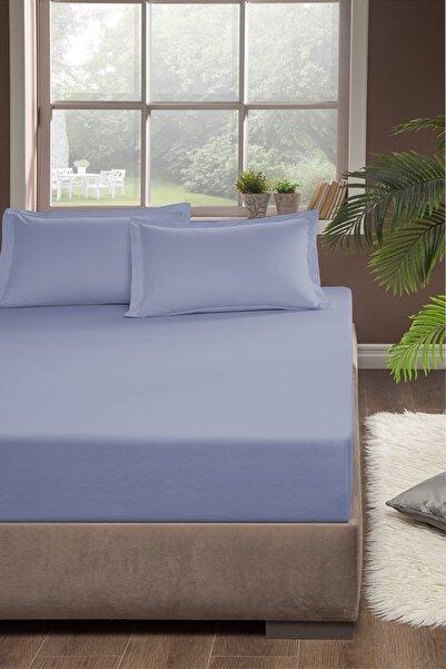 Pierre Cardin Penye Lastikli Çarşaf Çift Kişilik 160x200 cm Mavi