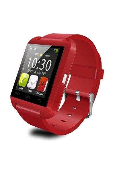 POLYGOLD U8 Akıllı Saat Smart Watch Ios Ve Android Uyumlu Bluetooth Saat Kırmızı