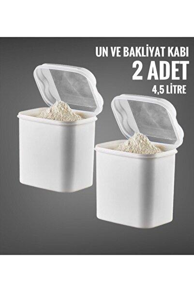 VİP AHMET 2 Li Un Ve Bakliyat Kabı 4,5 Litre Beyaz