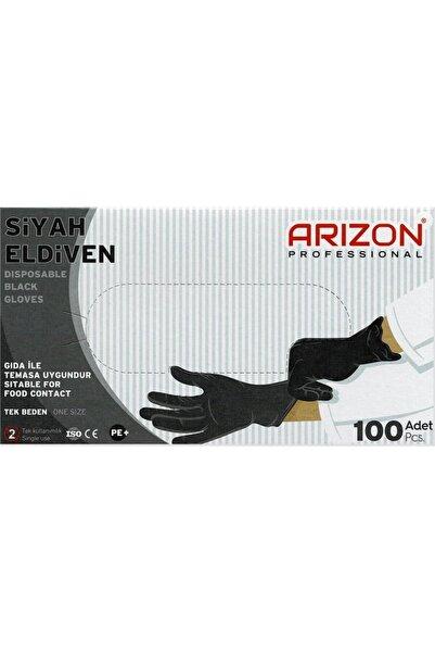 Arizon Bidünyapazar Siyah Renkli Çok Amaçlı, Naylon Kullan-at Eldiven Tek Kullanımlık