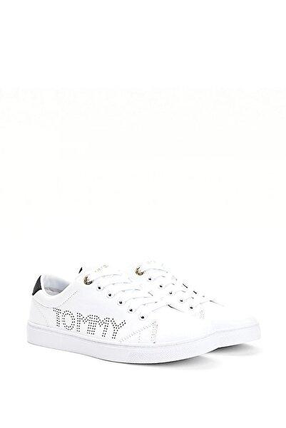 Tommy Hilfiger Kadın Beyaz Th Iconic Cupsole Sneaker Fw0fw05544
