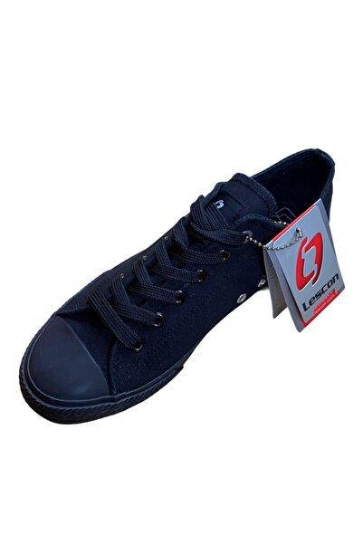 Lescon Unisex Siyah Keten Ayakkabı Lk-8403