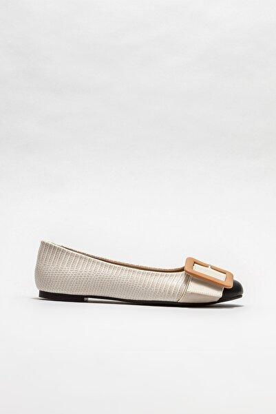 Elle Shoes Kadın Bej Babet