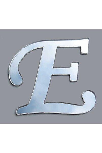 TÜFEKÇİOĞLU E Pleksi Harf Yapışkanlı 1 Mm 4 X 4 Cm Gümüş