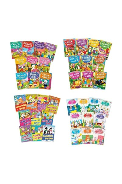 Timaş Yayınları Timaş Çocuk 1. Sınıflar Için Mini Masallar Set (40 Kitap)
