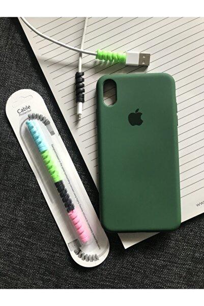 SUPPO Iphone Xs Max Logolu Lansman Kılıf+kablo Koruyucu