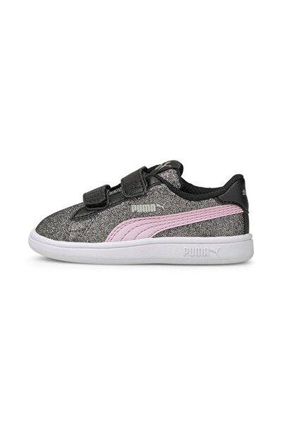 Puma SMASH V2 GLITZ GLAM Siyah Kız Çocuk Sneaker Ayakkabı 101085105