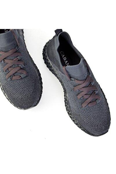 Cabani Kntorm -vol-a-1 Ekstra Hafif Taban Bağcıklı Triko Sneaker Kadın Ayakkabı Gri Triko