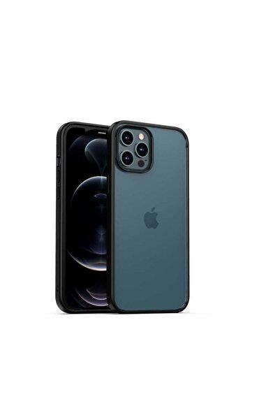 Lopard Iphone 12 Pro Max Uyumlu Kılıf Rom Telefon Kabı Arkası Şeffaf Bumper