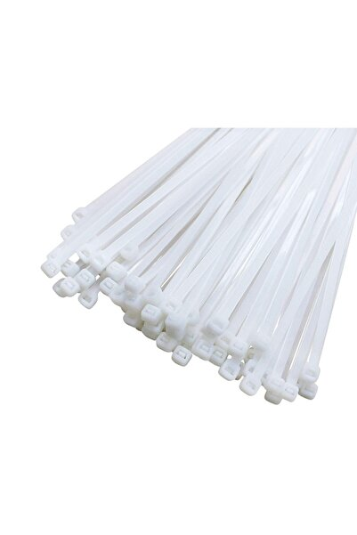 CAGLAYANTIC Kablo Bağı- Plastik Kelepçe - 3.6 X 200 Mm - Cırt Kelepçe Beyaz 100 Adet Paket