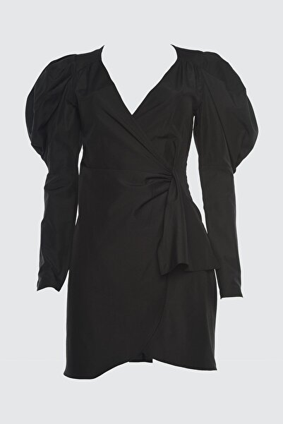 TRENDYOLMİLLA Siyah Karpuz Kollu Elbise TPRSS21EL1096