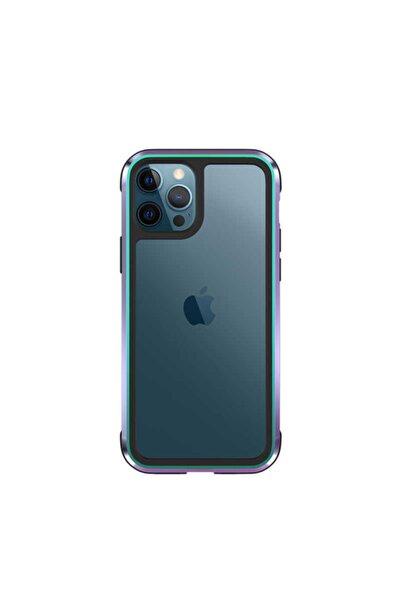 CoverStation Iphone 12 Pro Max Kenarı Metal Darbelere Dayanıklı Zırh Tan Uyumlu