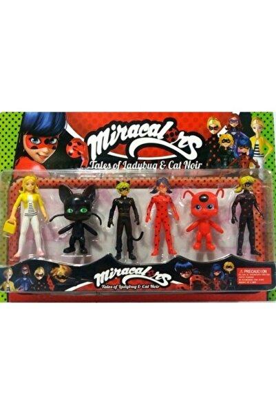 Miraculous Uğur Böceği Kara Kedi Figür Set 6lı