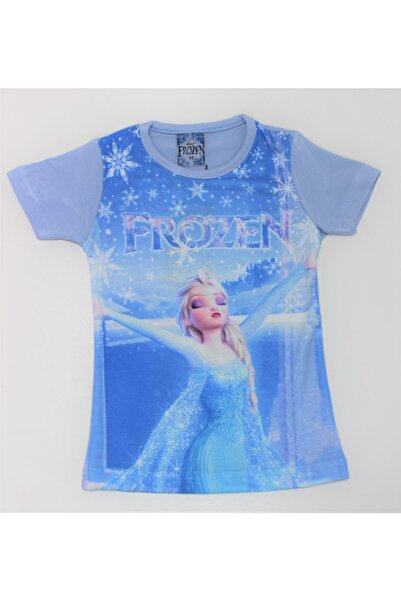 Frozen Kız Çocuk Dijital Baskılı Tişört