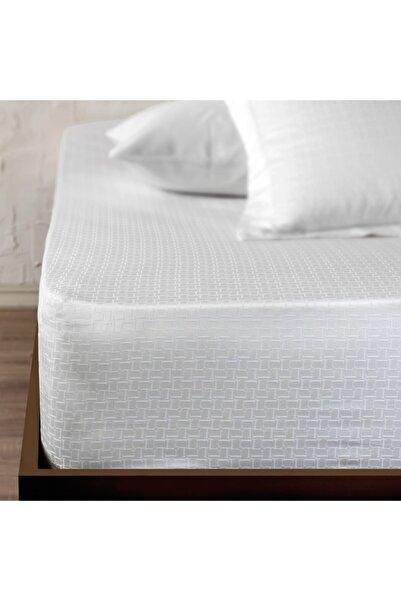 Linens White Collection Logo Çift Kişilik Çarşaf
