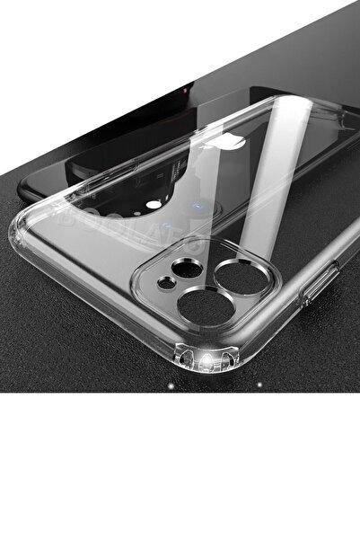 """dijimedia Iphone 11 6.1"""" Uyumlu Kılıf 3d Tıpalı Kamera Korumalı Şeffaf Silikon Kapak"""