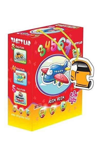 DIY Toys Puzzle Taşıtlar 25 Parça