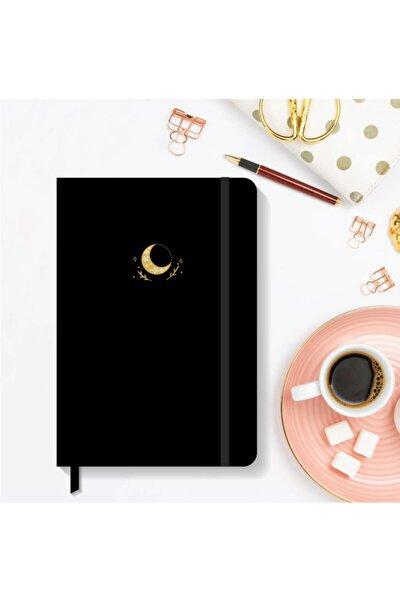 AKILLICA Notebook Lastikli Sert Kapak Noktalı Defter 13x21 Cm Hardcover Notebook Black