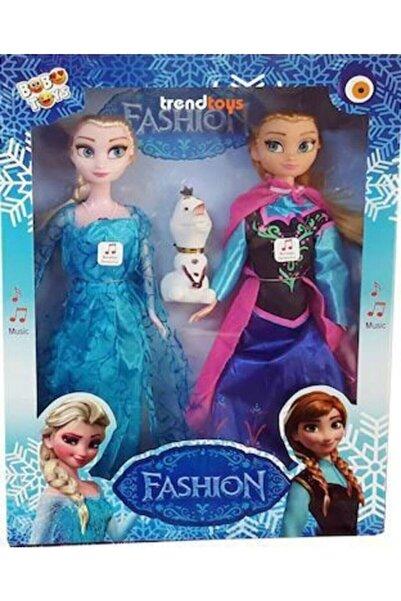 SUDEN Karlar Ülkesi Frozen Elsa Ve Anna Olaflı 3'lü Set Şarkı Söyleyen