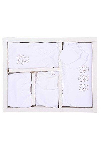 kitikate Kiti Kate Organik Pamuk 10'lu Zıbın Set Beyaz
